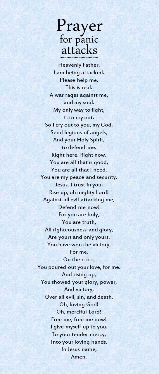 Prayer for panic attacks