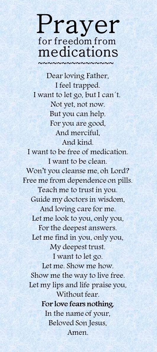 Prayer For Freedom From Medication For Anxiety Prayer