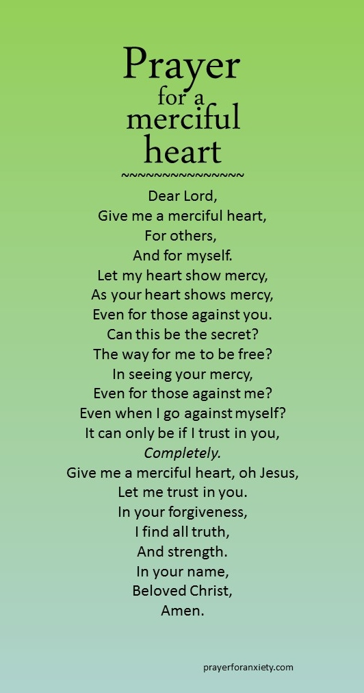 Prayer for a merciful heart