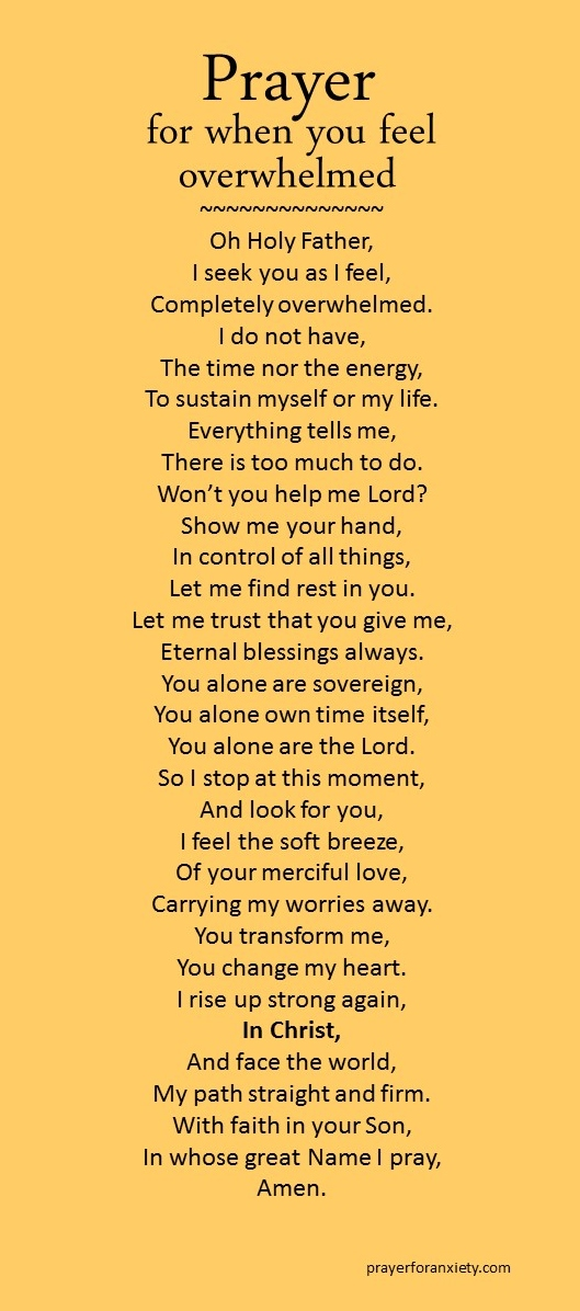 Image of text for this Prayer for when you feel overwhelmed