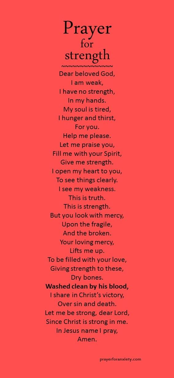 Praying For Strength And Endurance