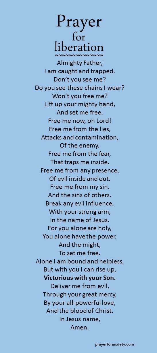 Prayer for liberation