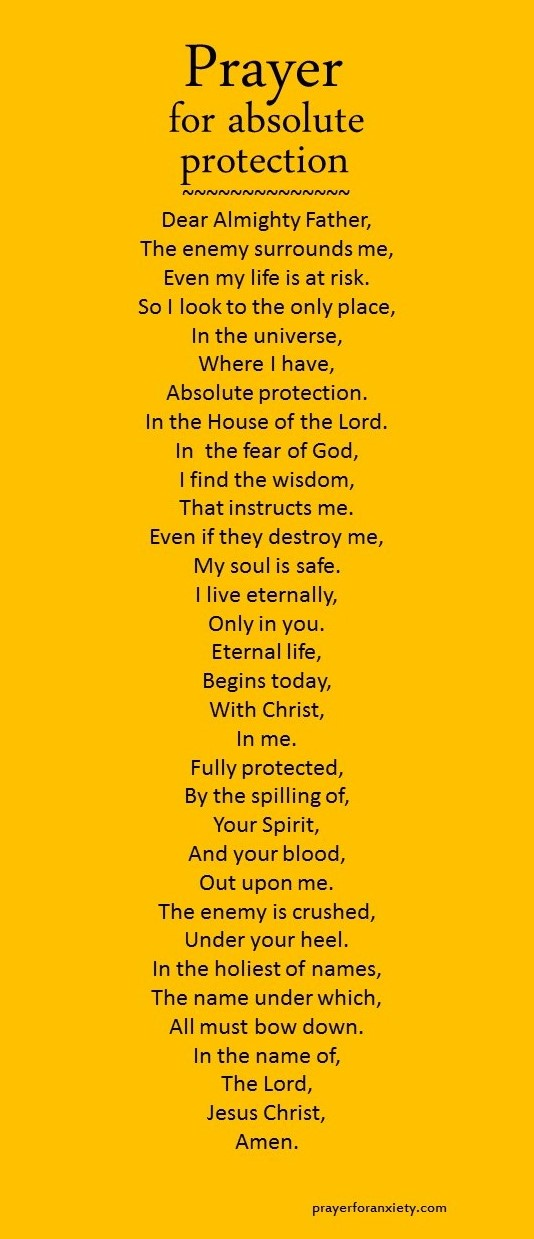 Prayer for absolute protection