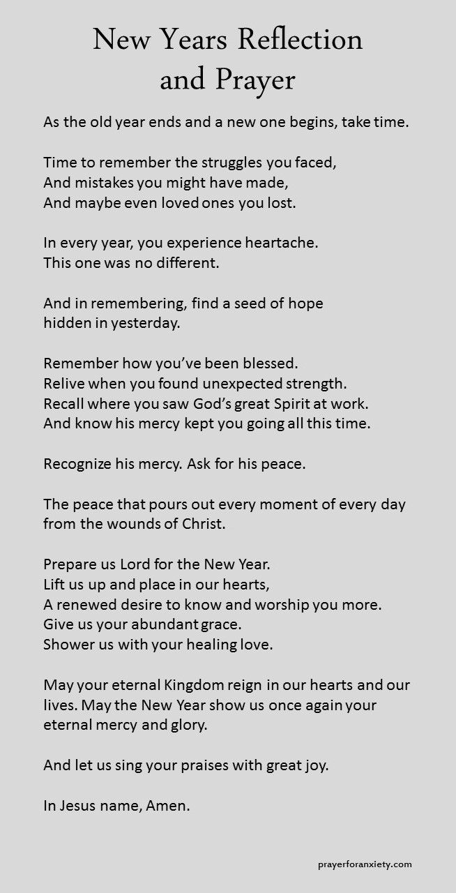 new years reflection and prayer