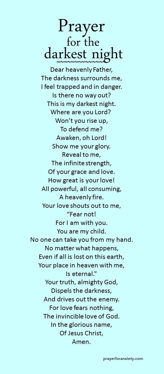 Prayer for the darkest night
