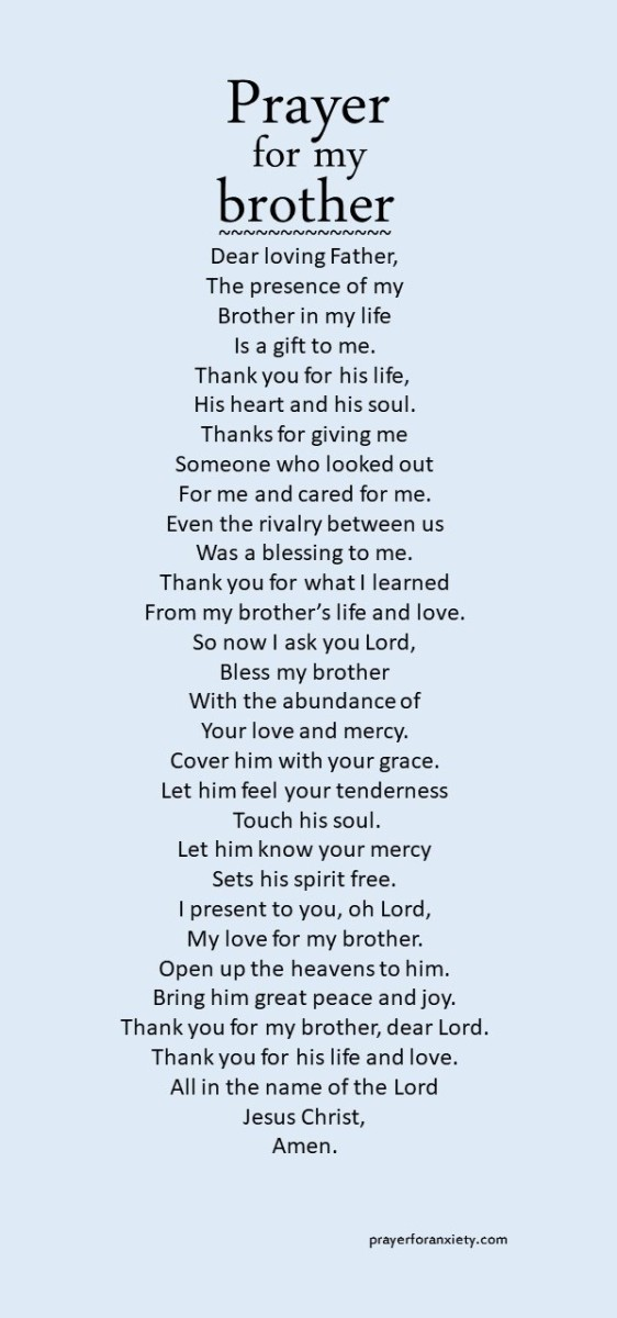 A prayer you can say for your brother
