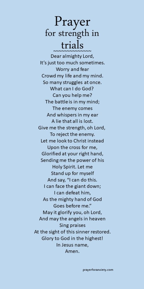 Prayer for strength in trials