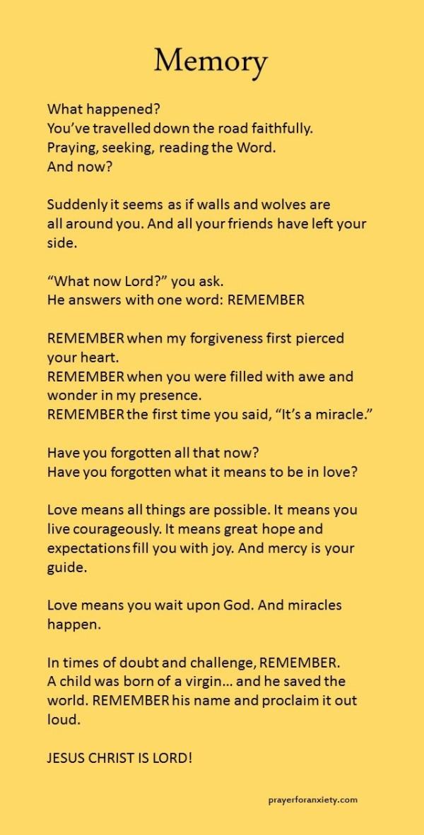 memory of God's glory