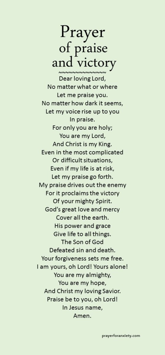 prayer of praise and victory