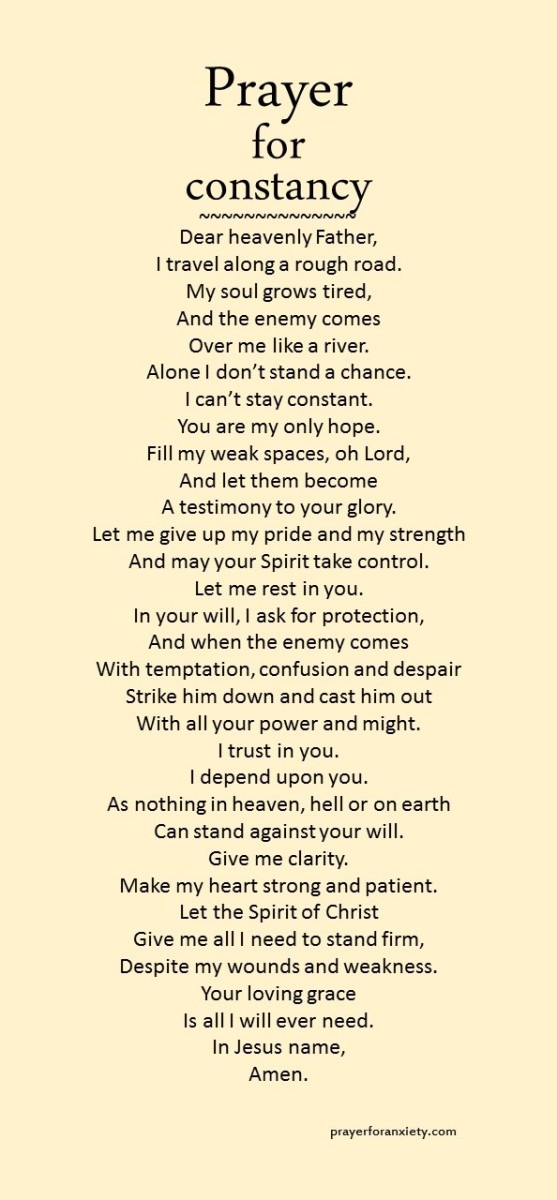 Prayer for constancy