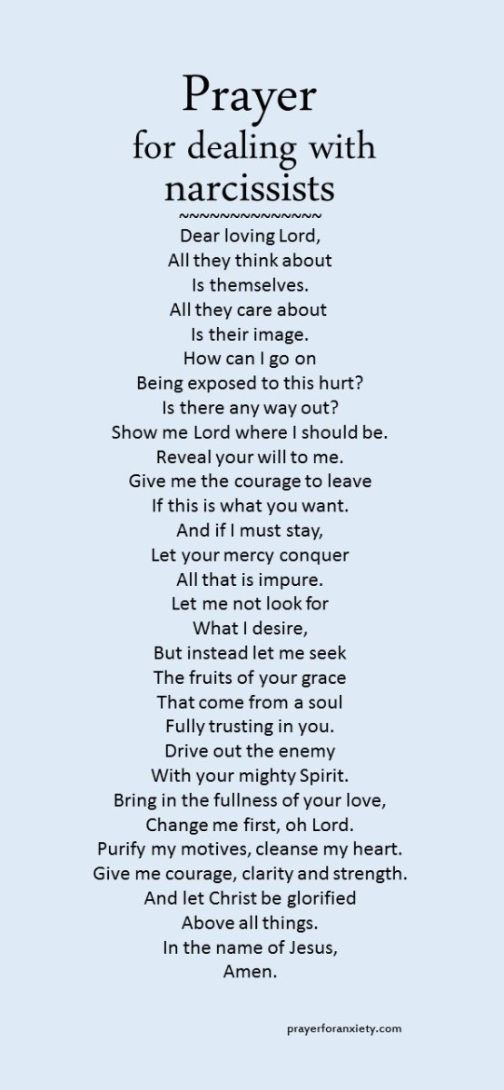 Prayer for dealing with narcissists