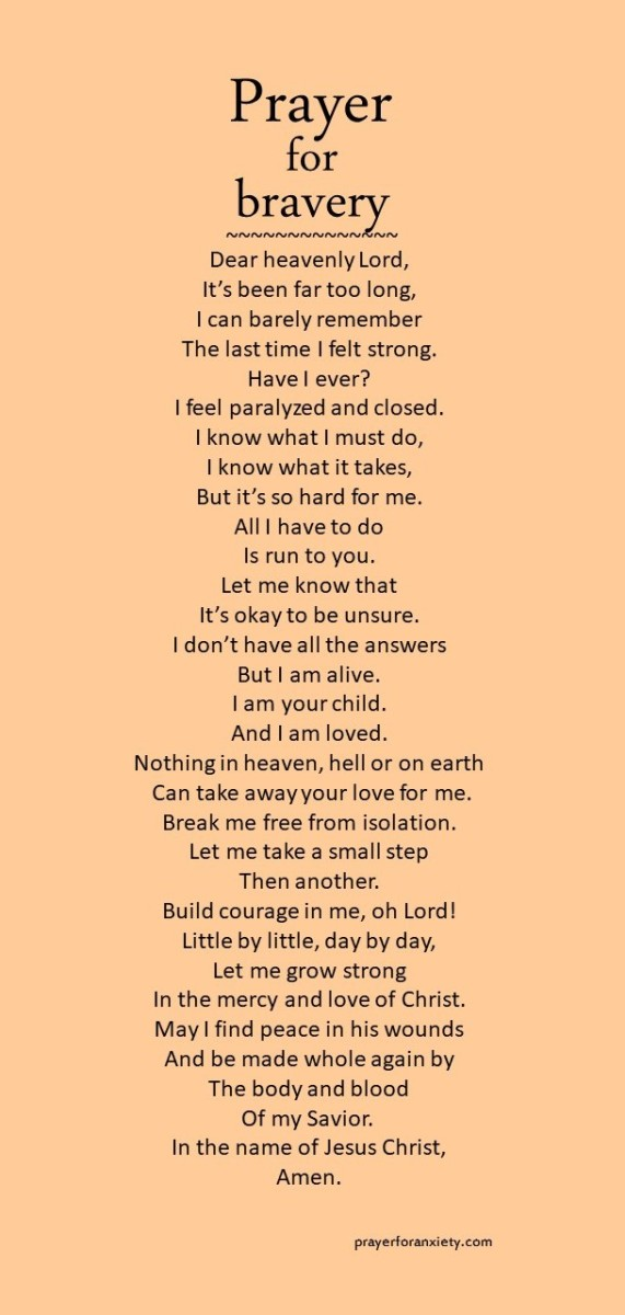 Prayer for bravery