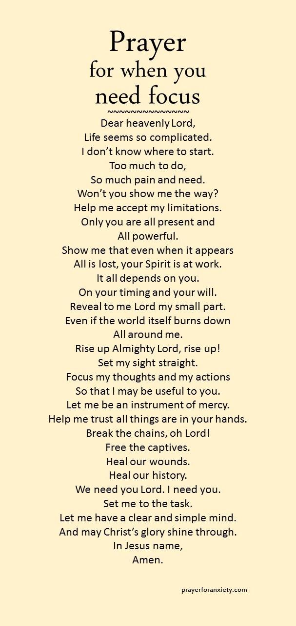 Prayer for when you ne...