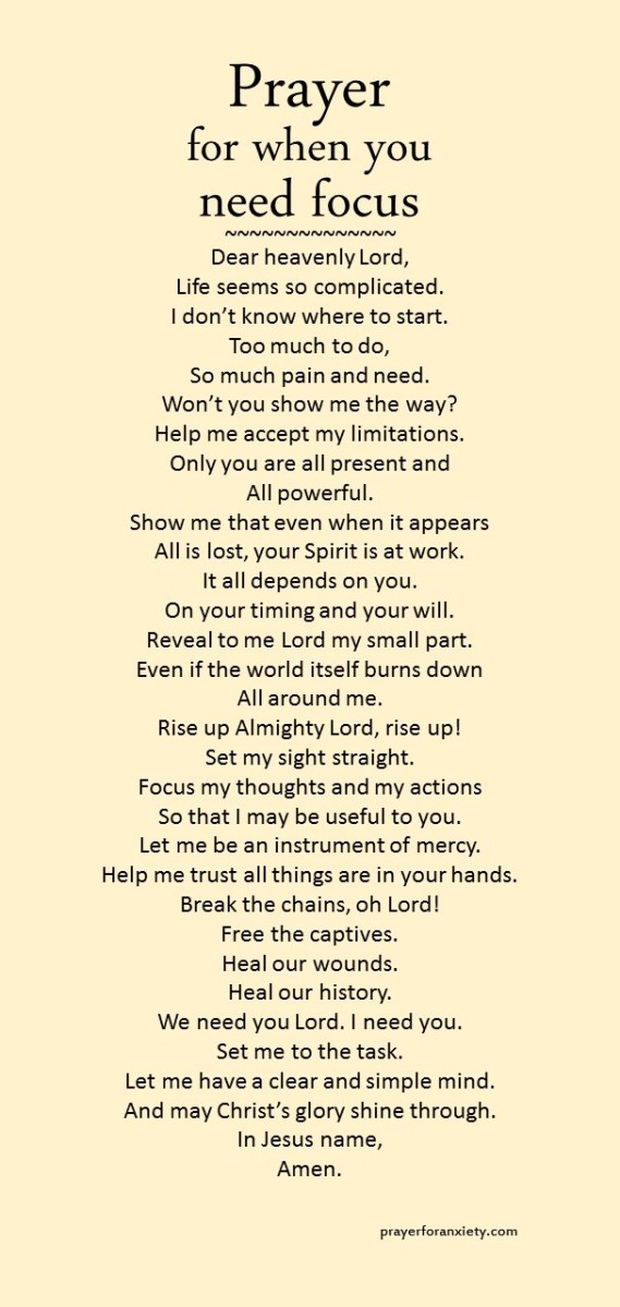 Prayer for focus