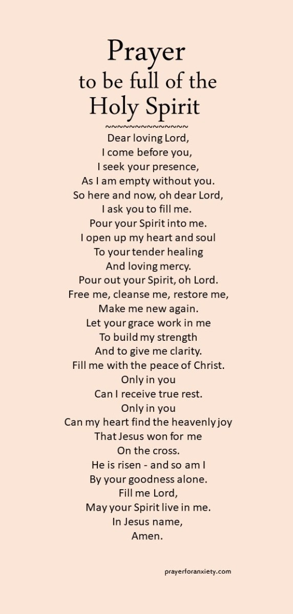 Prayer to be full of the Holy Spirit