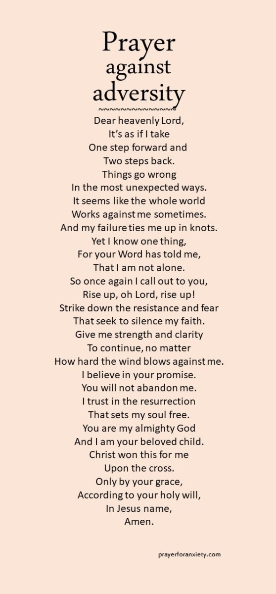Prayer against adversity