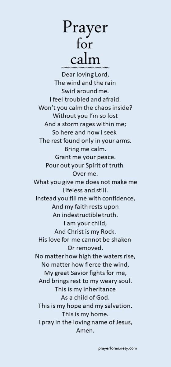 Prayer for calm