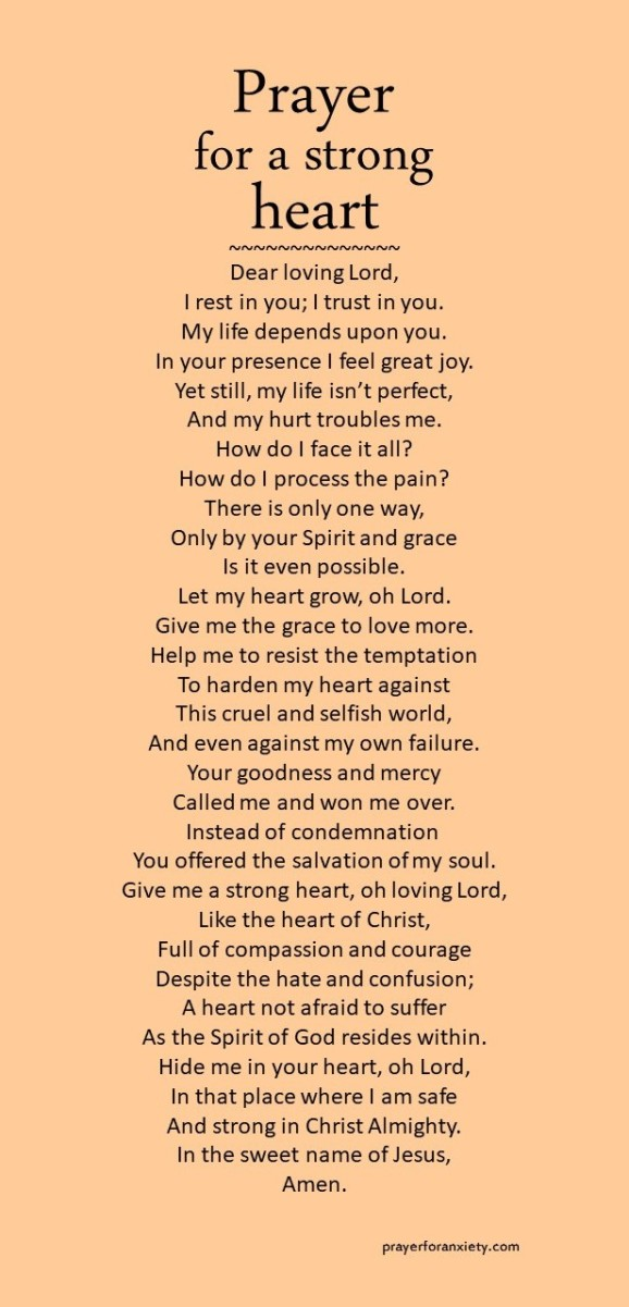 Prayer for a strong heart