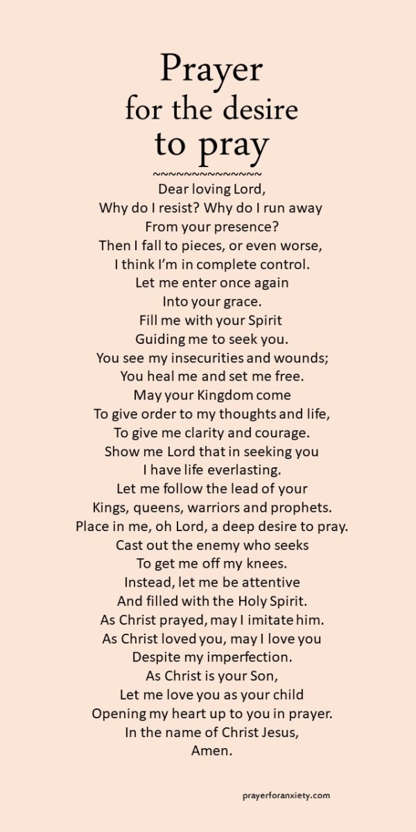 Prayer for the desire to pray