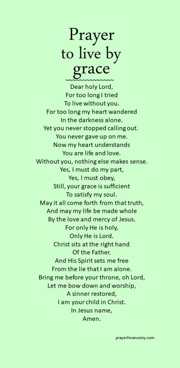 Prayer to live by grace