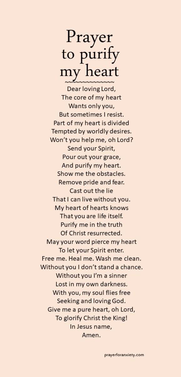 Prayer to purify my heart
