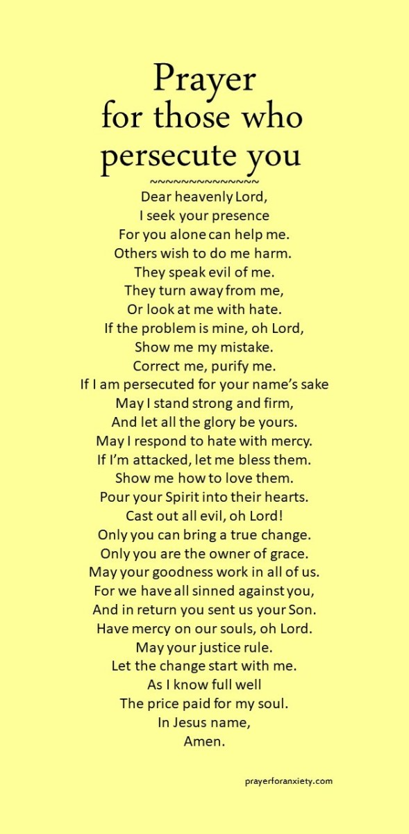 Text for Prayer for those who persecute you