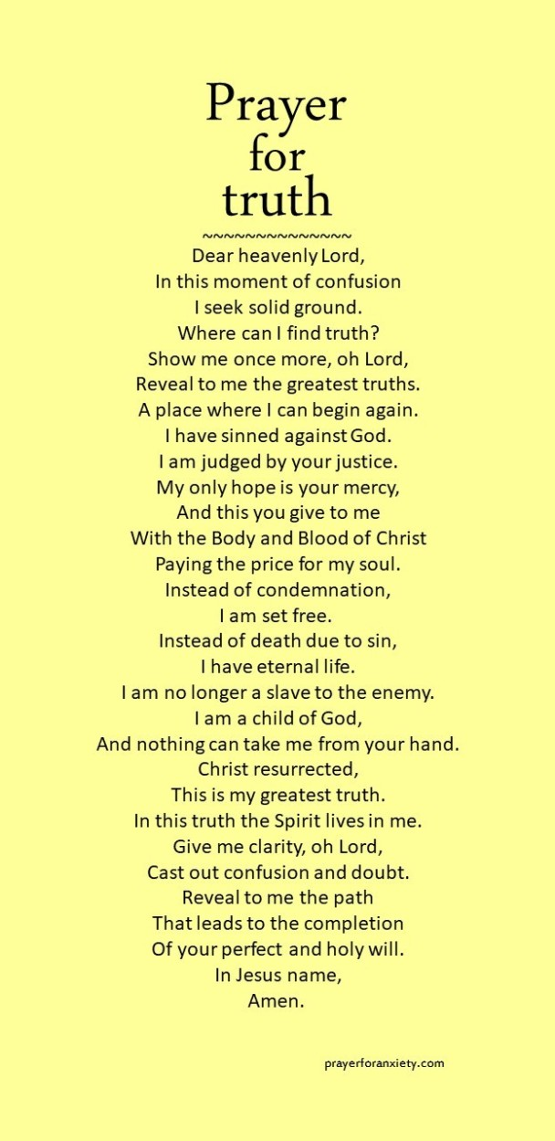 Image of prayer for truth based on faith in Jesus Christ.