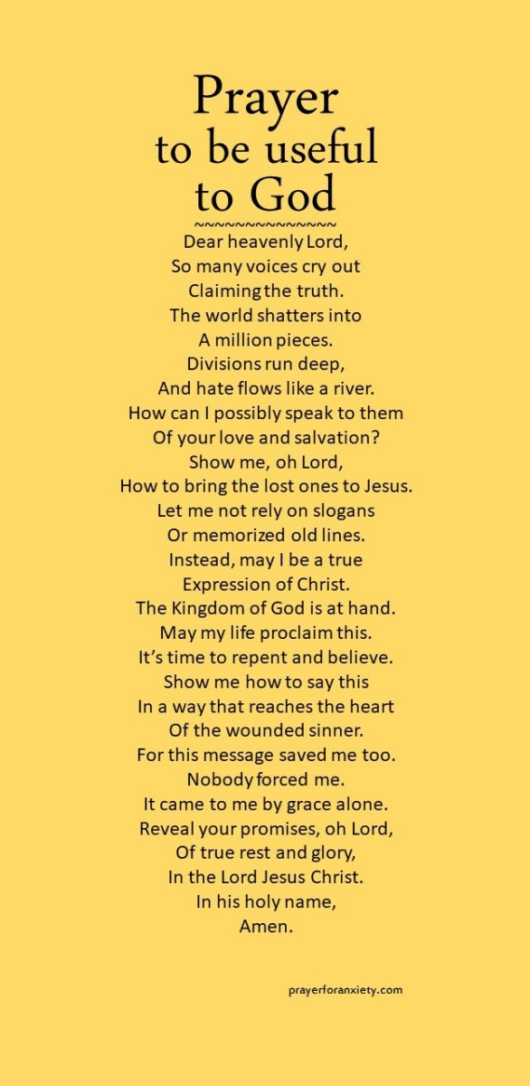 Image of text about being useful to God which means being humble and trusting.