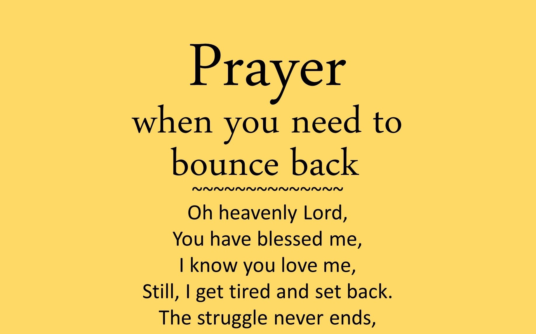 Prayer for when you need to bounce back | Prayer For Anxiety