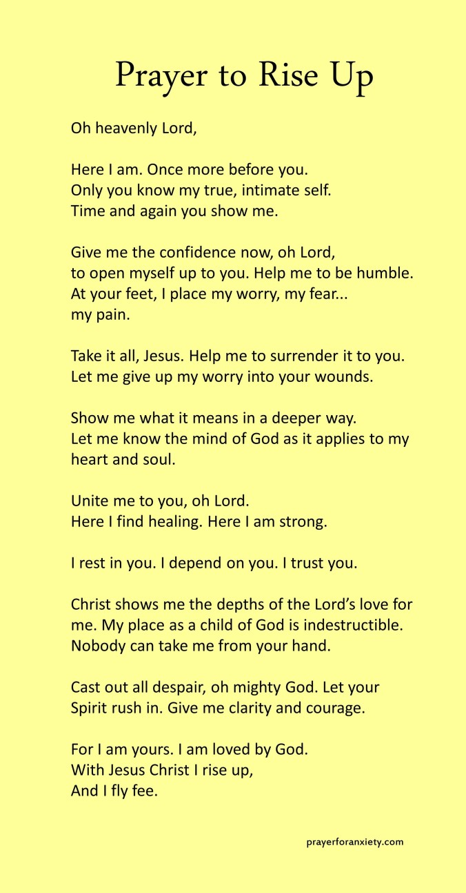 This Prayer to rise up inspires you to lift your head even in the dark moments. The Spirit of the Lord will help you!