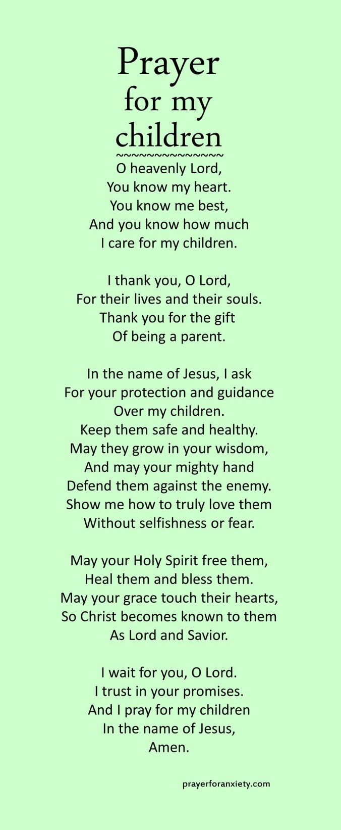 Prayer for my children