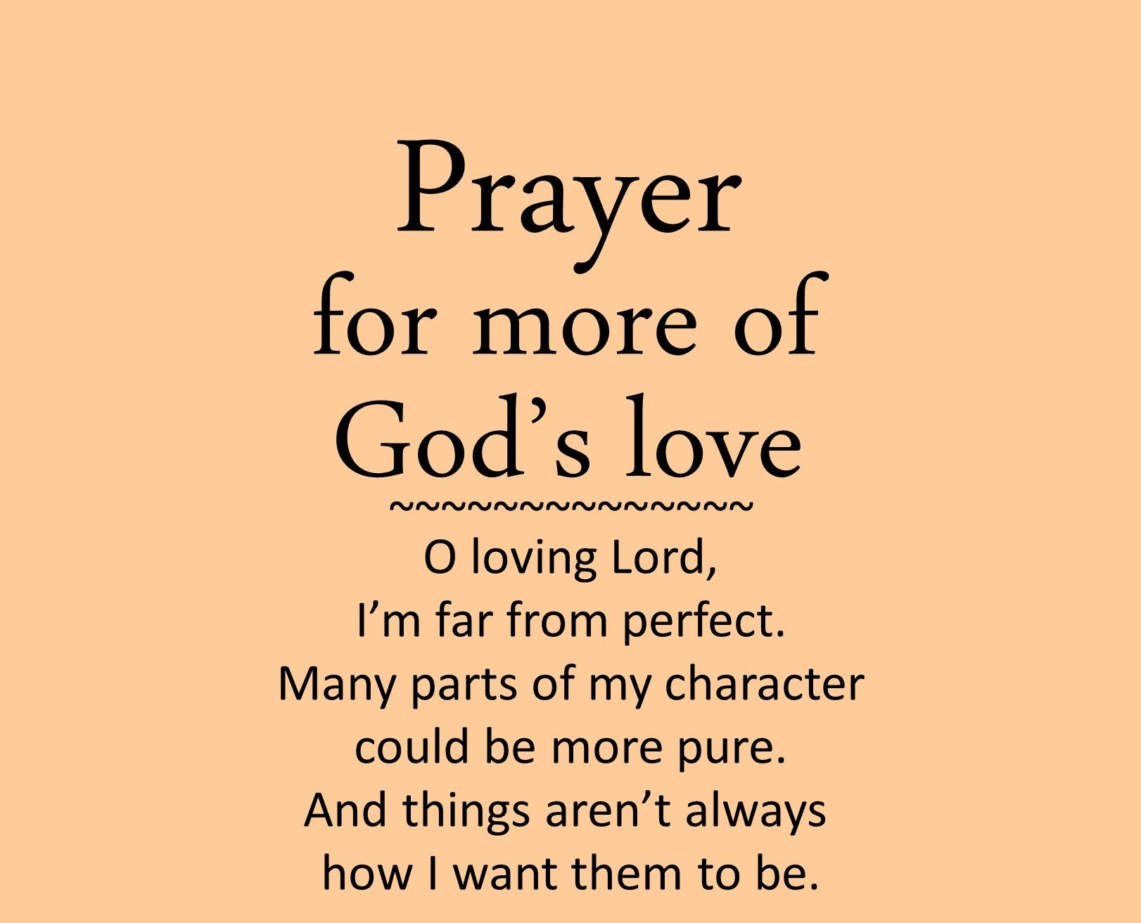 Prayer For More Of God S Love Prayer For Anxiety