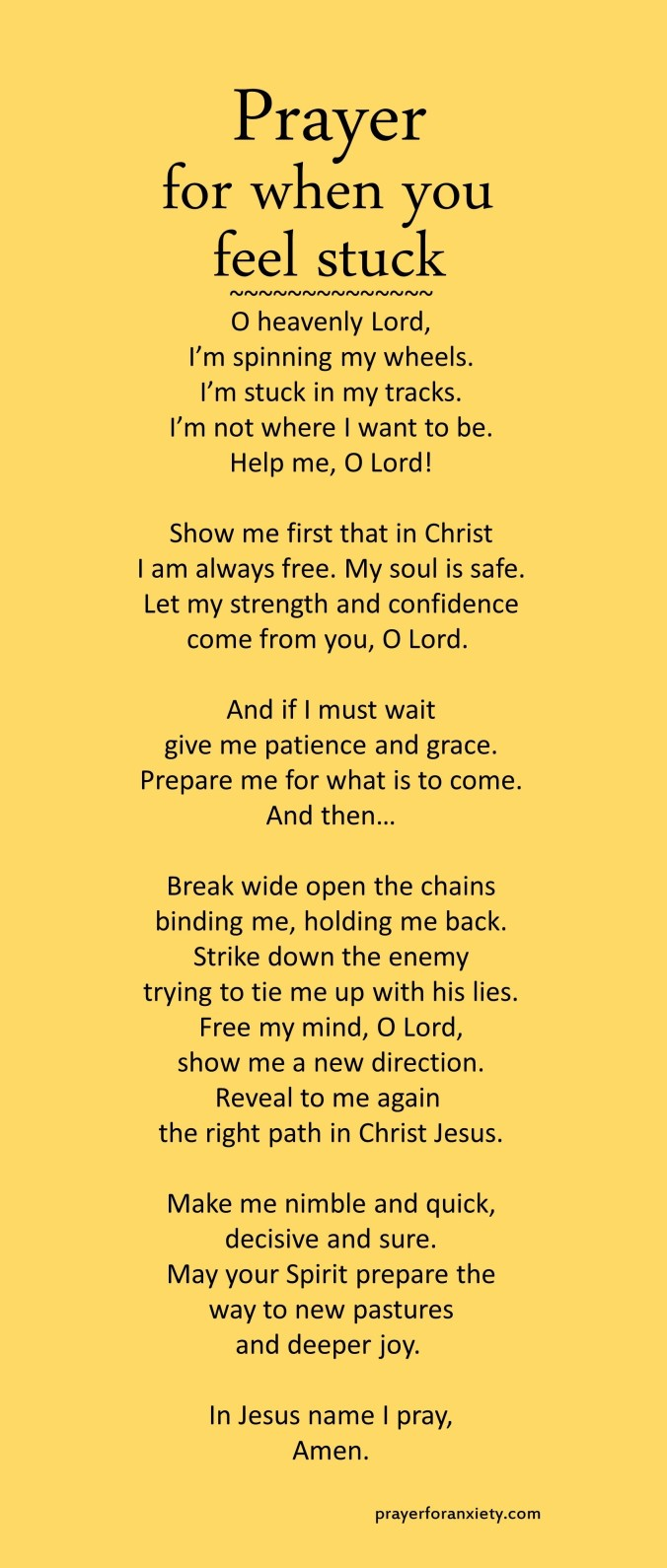 Prayer for when you feel stuck