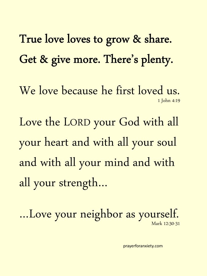 Thought and Bible verse 1 John 4:19Thought and Bible verse 1 John 4:19