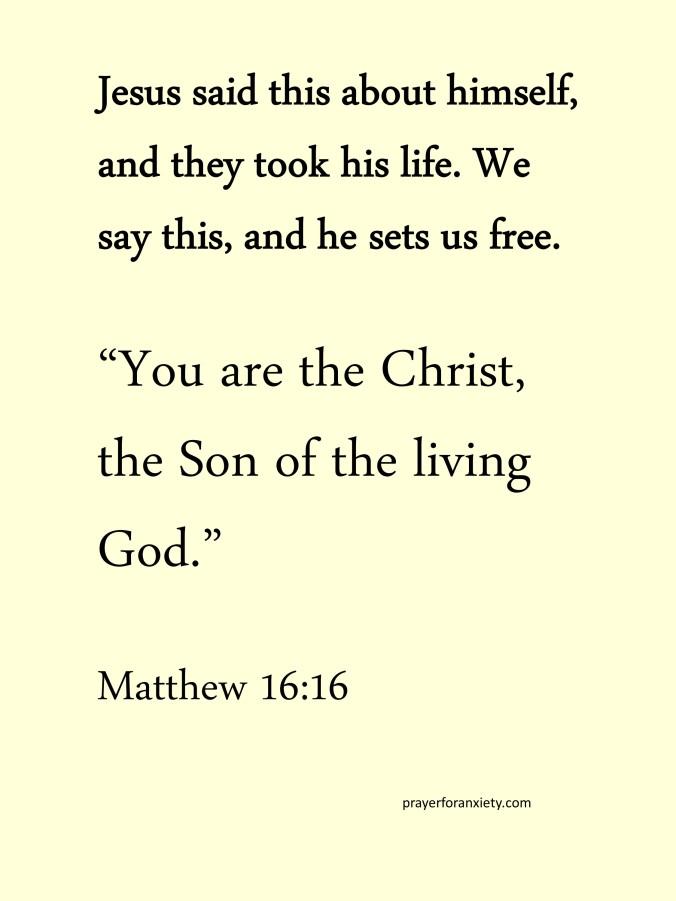 Prayer and Bible verse Matthew 16:16