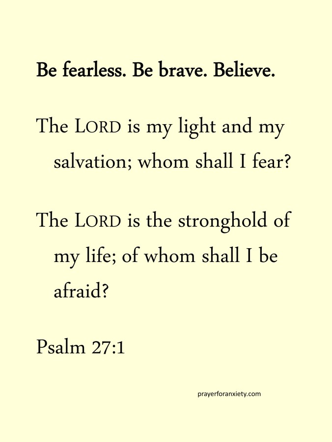 Thought and Bible verse Psalm 27:1