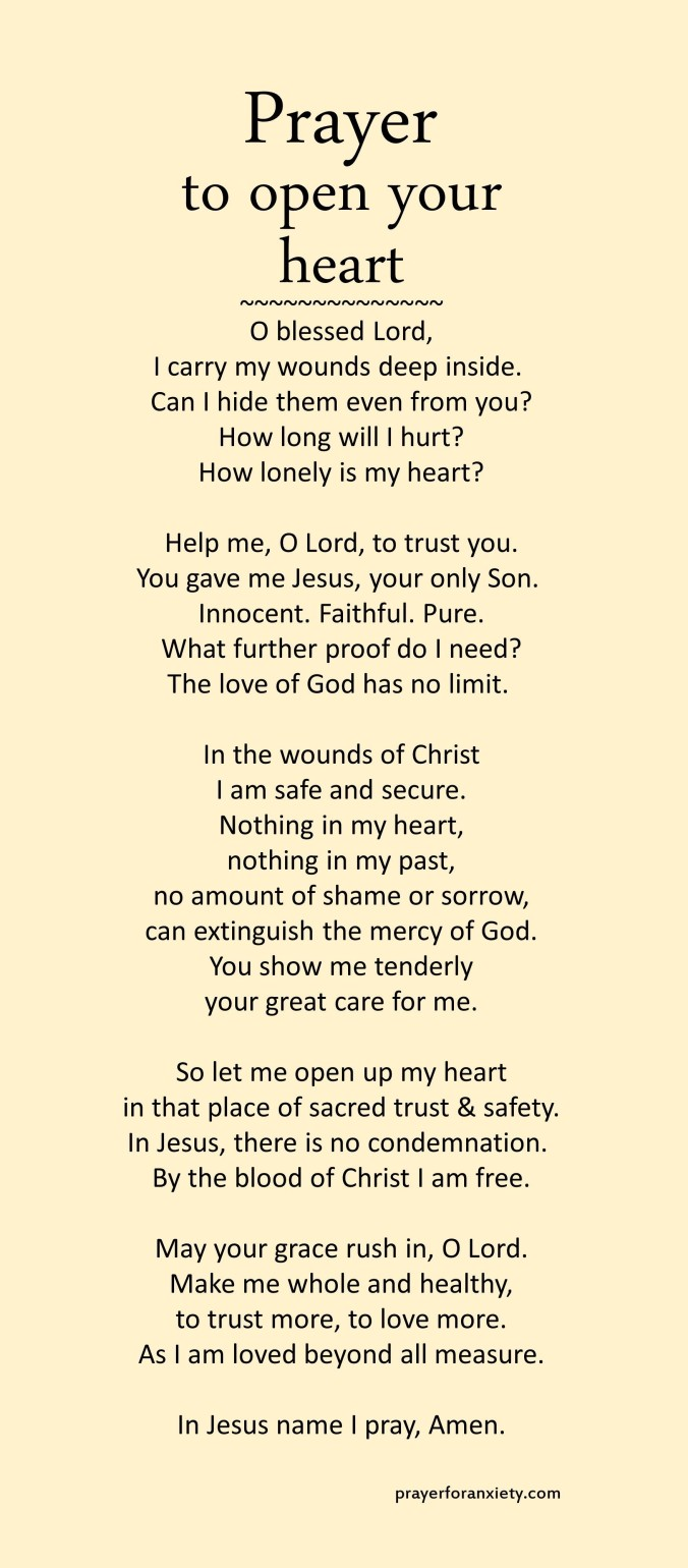 Prayer to open your heart