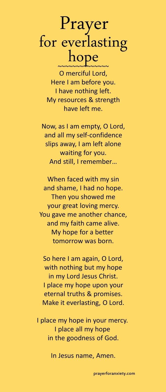 Prayer for everlasting hope